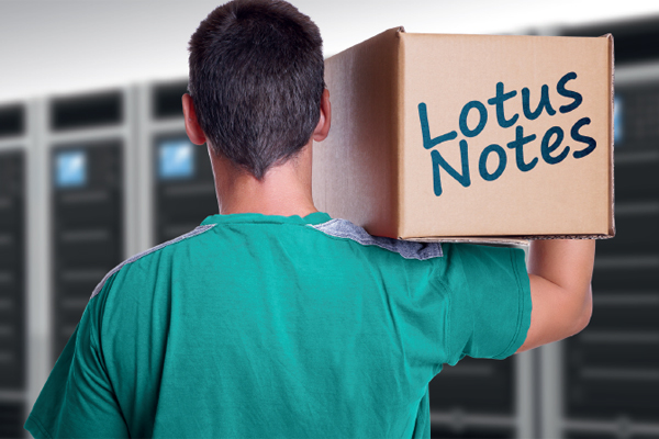 Bild: Lotus-Notes-Migration mit CONET - Lotus Notes im Umzugskarton