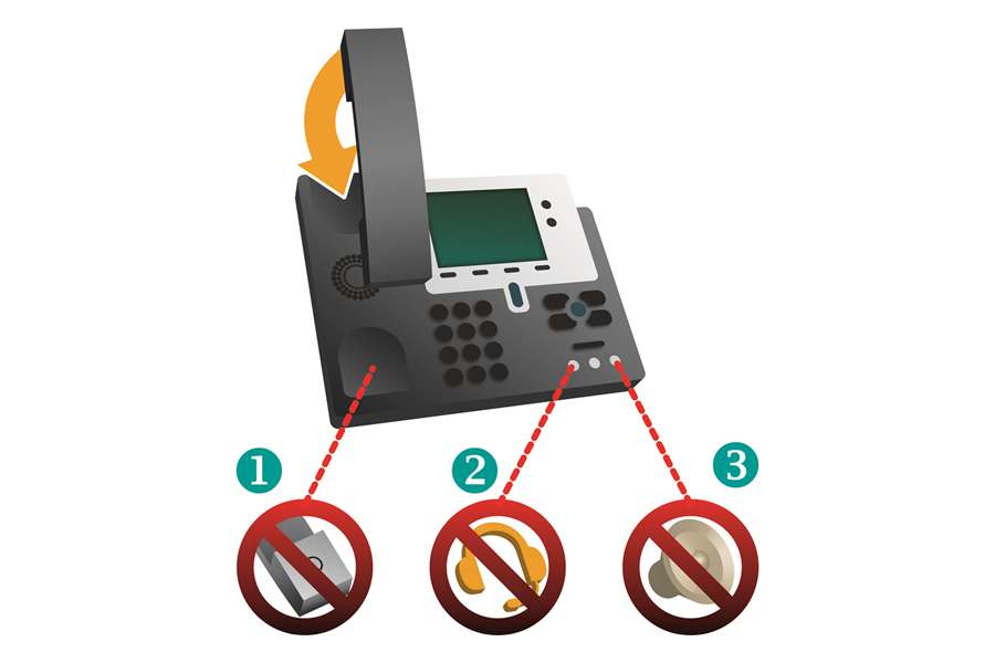 Illustration: CONET Phone-Mod - Abhörsicherheit für IP-Telefone